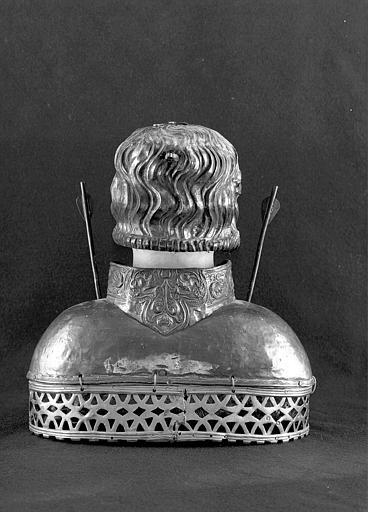 Buste-reliquaire de saint Sébastien (dos)