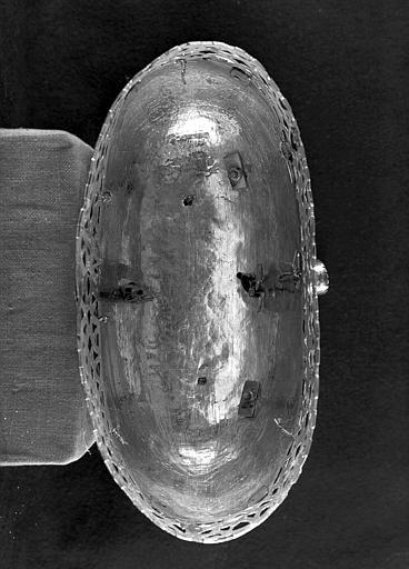 Buste-reliquaire de saint Sébastien (dessous)