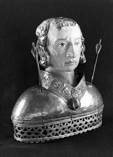 Buste-reliquaire de saint Sébastien (trois-quarts face)