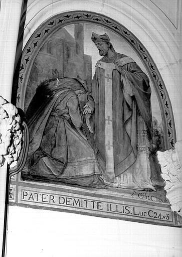 Peinture murale de la chapelle Saint-Leu, 9e travée droite : Saint Leu guérissant une malade
