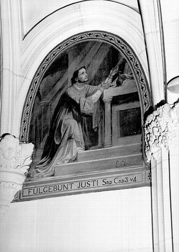 Peinture murale de la chapelle Saint-Leu, 9e travée droite : Saint Leu en prière