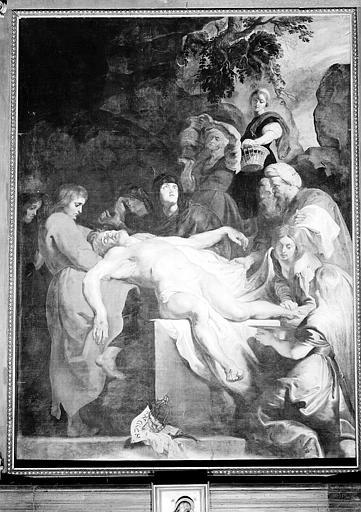 Peinture sur toile : Le Christ mis au tombeau