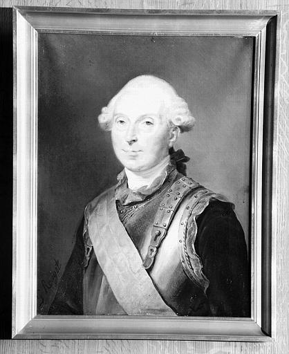 Peinture sur toile de la salle des Gardes : Portrait de Louis de Brienne de Conflans, marquis d'Armentières