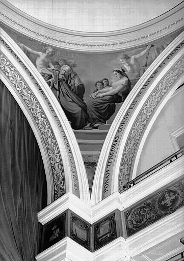 Peinture murale d'un pendentif de la coupole de la chapelle : Jérémie et la sybille Persique