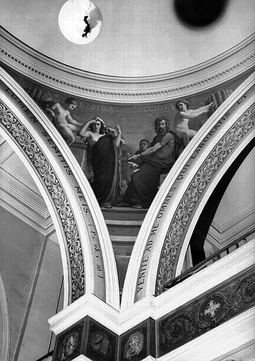 Peinture murale d'un pendentif de la coupole de la chapelle : Ezéchiel et la sybille Lylique