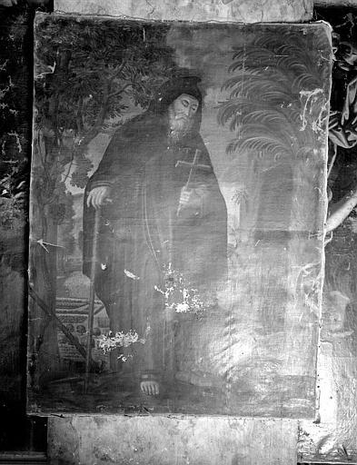 Tableau : 'Saint Antoine Ermite', huile sur toile