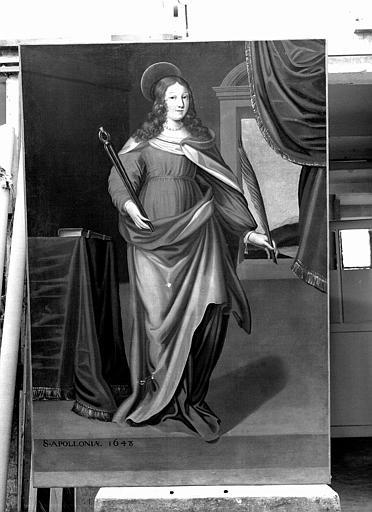 Peinture sur toile : Sainte Apolline