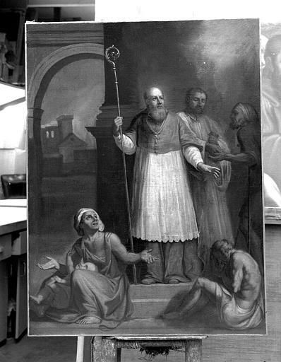 Peinture sur toile : Saint Thibault