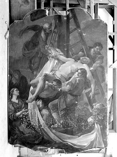 Peinture sur toile : La descente de Croix