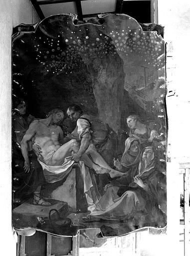 Peinture sur toile : La mise au tombeau