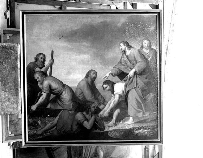 Peinture sur toile : La pêche miraculeuse