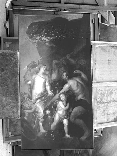 Peinture sur toile : Vénus et Vulcain ?