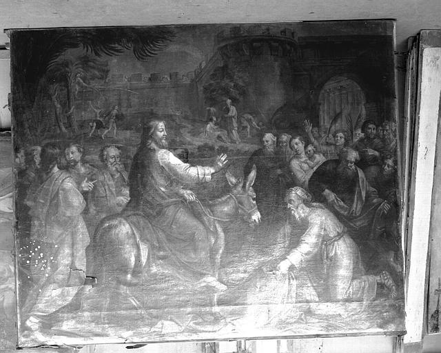 Peinture sur toile (Chapelle Saint-Hugues) : L'entrée du Christ à Jérusalem