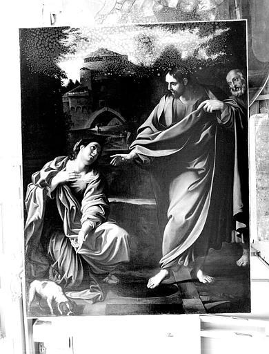 Peinture sur toile : Le Christ et la Chananéenne