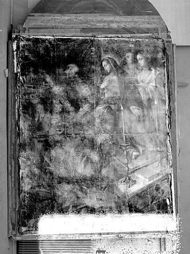 Peinture sur toile (Retable du maître-autel) : La mort de sainte Claire