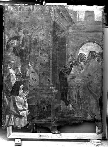Peinture sur toile : Présentation de la Vierge au Temple