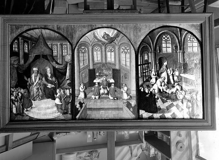 Panneau peint du retable : Scènes de la vie saint Josse
