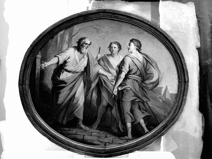 Peinture sur toile : Le départ de l'enfant prodigue