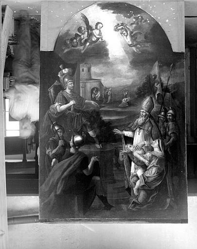Peinture sur toile en forme : Miracle de saint Claude