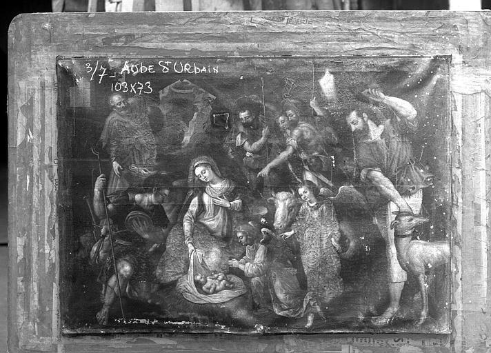 Peinture sur toile : L'Adoration des bergers