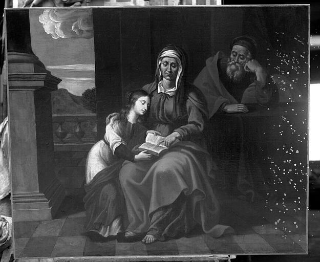 Peinture sur toile : L'Education de la Vierge