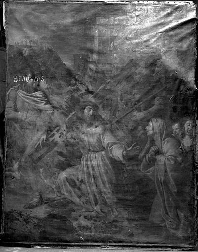 Peinture sur toile : Portement de Croix
