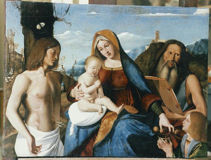 Tableau : sainte Famille (la) et saint Sébastien