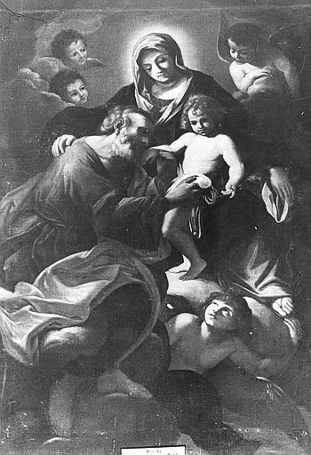 Tableau : Sainte Famille ; autre titre Glorification d'une religieuse (la)