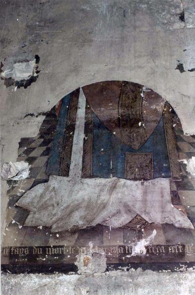peinture monumentale : Saint personnage debout, Évêque