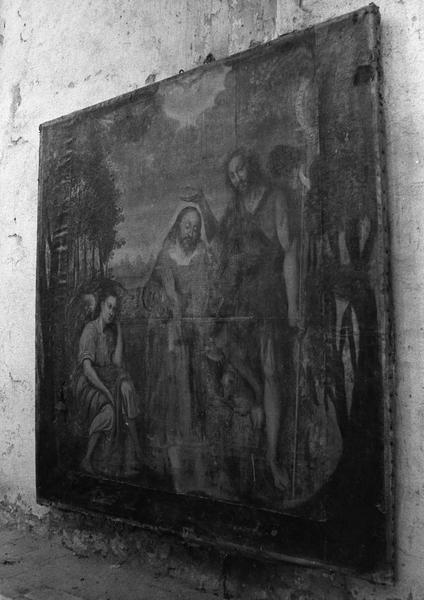 Tableau : Le Baptême du Christ par saint Jean-Baptiste