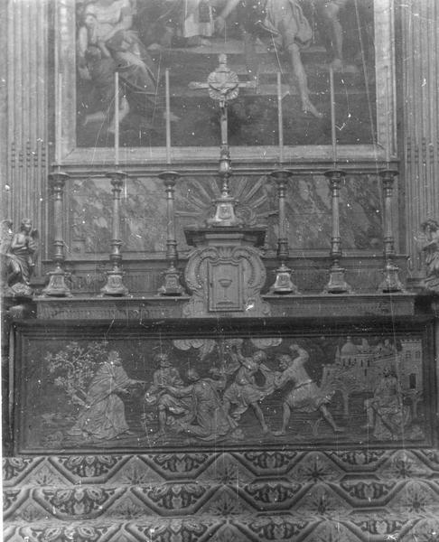 Devant du maître-autel : Le Martyre de Saint Etienne