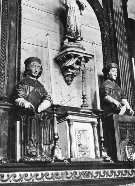 Statues : saint Crépin, saint Crépinien, vue générale