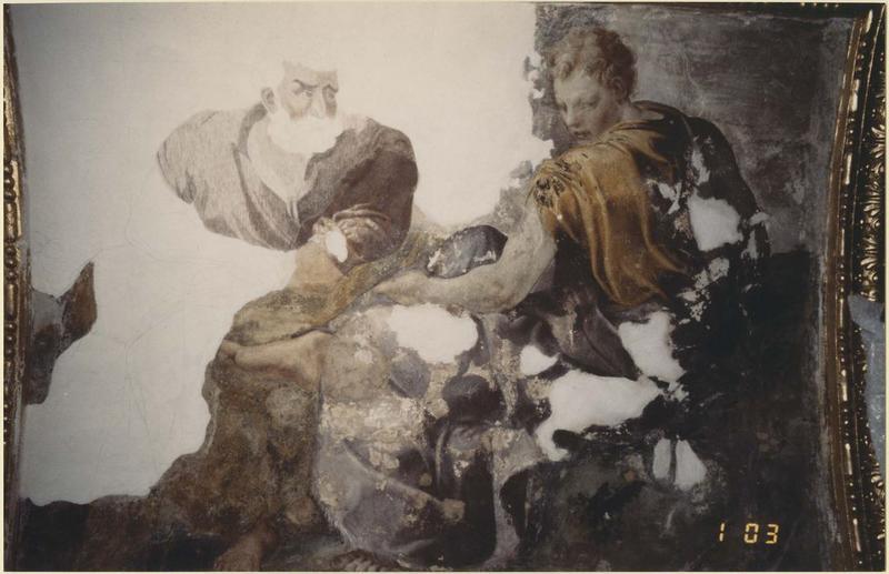 Peinture monumentale: Jupiter, vue partielle