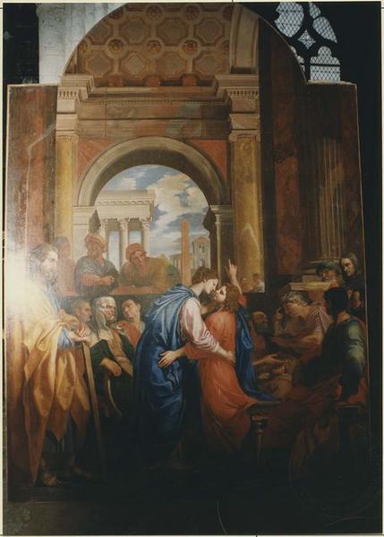 Tableau du maître-autel : Jésus parmi les docteurs, vue générale