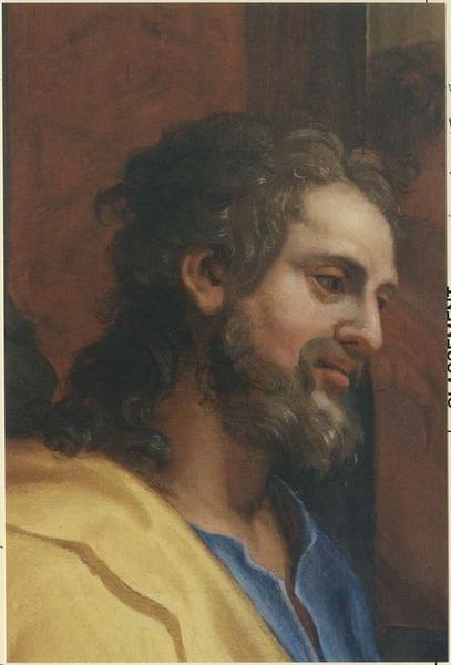 Tableau du maître-autel : Jésus parmi les docteurs, détail