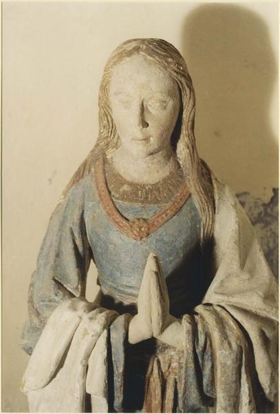 Statue : sainte Marguerite, vue partielle