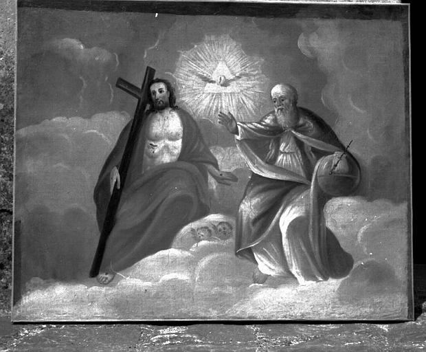 Peinture sur toile : La sainte Trinité