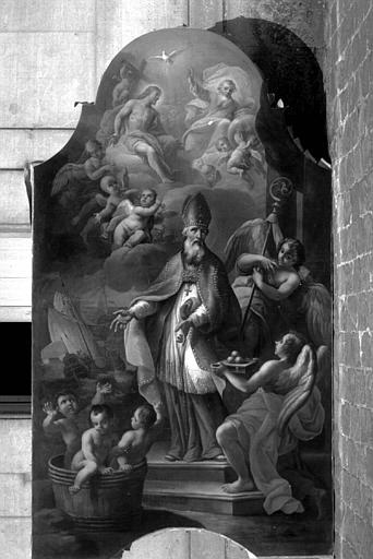 Peinture sur toile du maître-autel : Saint Nicolas
