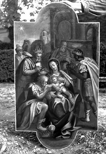 Peinture sur toile du retable : L'Adoration des mages