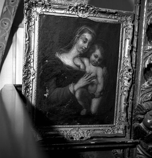 Peinture sur toile : La Vierge et l'Enfant