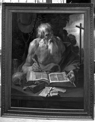 Panneau peint : saint Jérôme