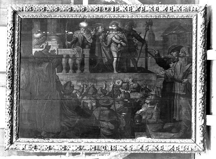 Panneau peint, grisaille : Ecce Homo