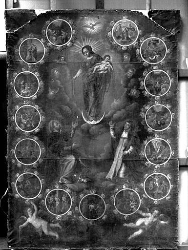 Peinture sur toile : L'Institution du Rosaire
