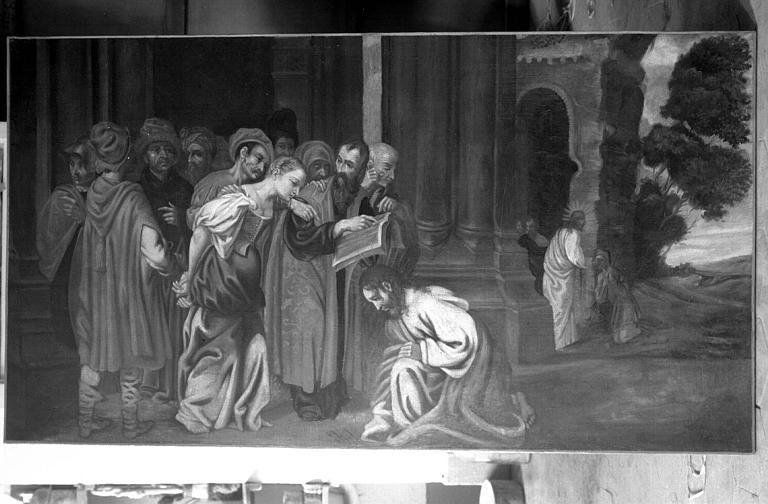 Peinture sur toile : La femme adultère