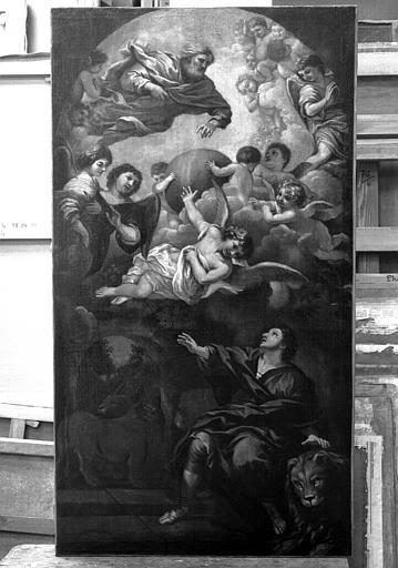 Peinture sur toile : Daniel dans la fosse aux lions