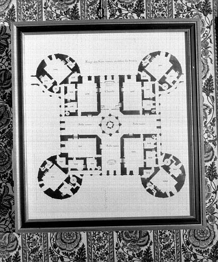 Plan du 2e étage du donjon