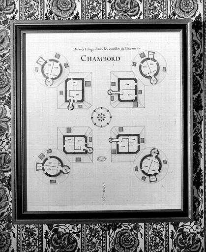 Plan du dernier étage dans les combles