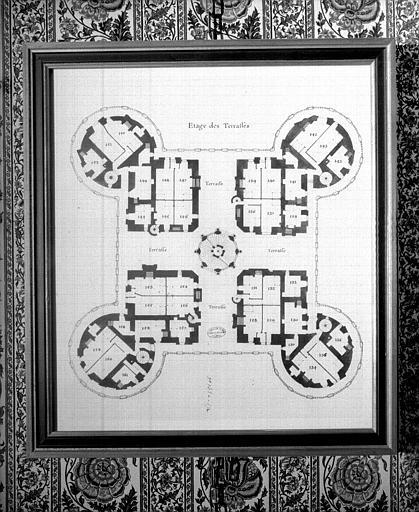 Plan de l'étage des terrasses