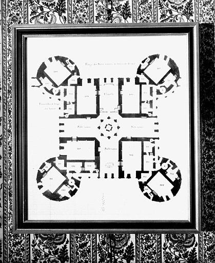 Plan des entresols du 2e étage du donjon