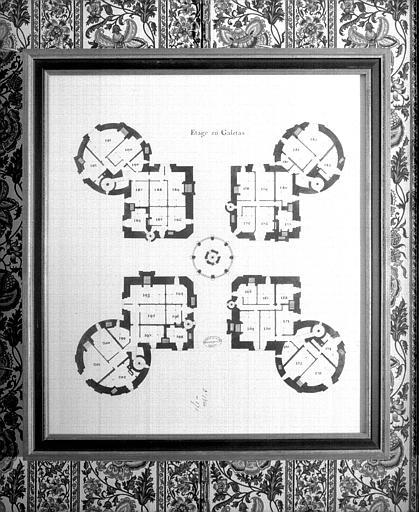 Plan de l'étage en galetas
